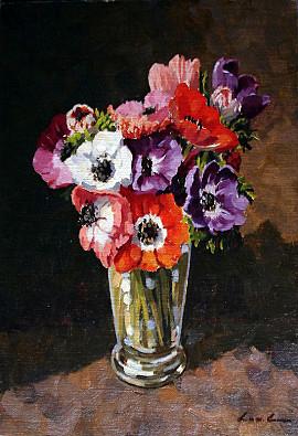 Mooie Bloemen Schilderij Voor Mijn Vrouw Van De Water